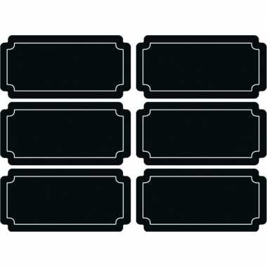 24x stuks schoolbord etiketten/stickers rechthoekig 7 x 3 cm