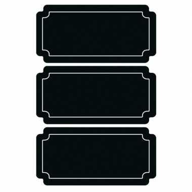 6x krijtbord voorraadkast etiketten/stickers rechthoekig