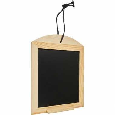 Houten krijtbordje/schrijfbordje incl. krijt 34 cm