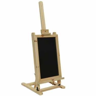 Krijtbord/memobord schildersezel van hout 31 x 29 x 85 cm
