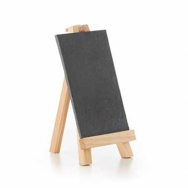 Krijtbord op houten standaard 20 cm