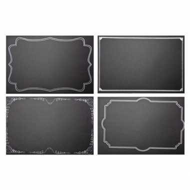 Krijtbord placemats 4 stuks