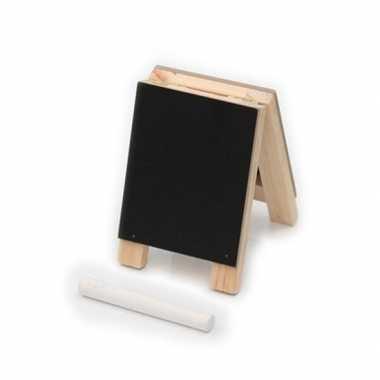 Krijtbordje met 4 krijtjes 10 cm