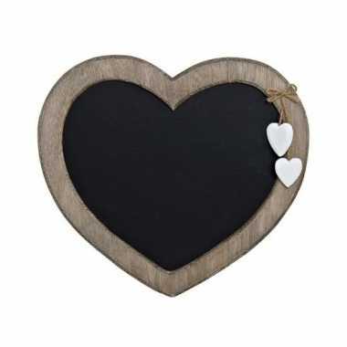Memo krijtbord hart vorm 27 cm
