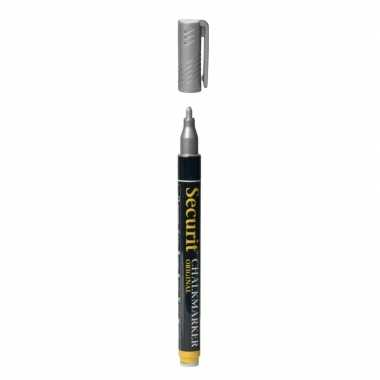 Zilveren krijtstift ronde punt 1-2 mm