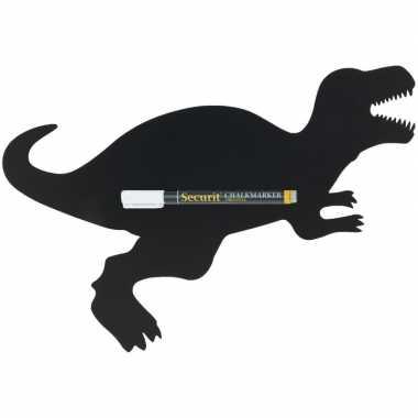 Zwart dinosaurus krijtbord 48 cm inclusief stift