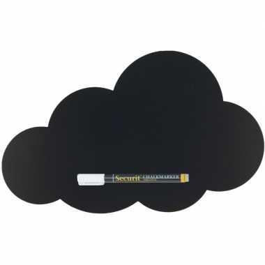 Zwart wolk krijtbord 30 cm inclusief stift