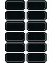 12x krijtbord voorraadkast etiketten stickers rechthoekig