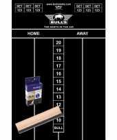 Dart krijt scorebord set met krijtjes en wisser 45x30 cm