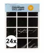 Krijtbord etiket stickers 24 stuks